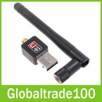 50pcs / Wifi Wireless Lan Adapter Repetidor Adaptadores Tarjeta de red Lot DHL libre 150M USB con 2dBi Externo Antenas Wi-fi CL-UW04