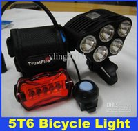 Wholesale 2015 New TrustFire Lumens Bicycle Light x CREE T6 LED bike light headlamp headlight mAh Battery Charger DHL Free Delivery