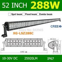 Cheap 52'' Inch 288W LED Work Light SUV ATV Driving Boat Roof Fog Lights Led Light Bar Led Daytime Running Light External Lights 12V 24V