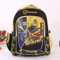 Wholesale New fashion cartoon backpack with zipper fashion style boy girl cool Transformers backpack hxxb