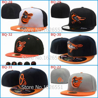 Wholesale Men s full Closed Baltimore Orioles fitted hat Tone sport team on field baseball cap