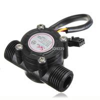 Wholesale New Water Flow Sensor Switch Meter Flowmeter Hall Flow Counter Sensor Water Control L min MPa