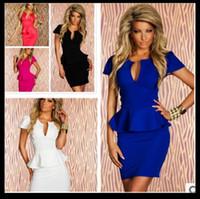 al por mayor xxl vestidos mini-Ropa interior atractiva de la raya rosada azul negra negra blanca, tamaño M L XL XXL Las mujeres ponen en cortocircuito el mini vestido de las mangas, envío libre