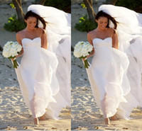 Cheap Plus Size Beach Wedding Dresses 2016 New Megan Fox Gorgeous Sweetheart Empire Chiffon Simple Bridal Gowns For Maternity Women Summer Fall