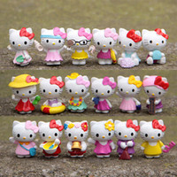 Wholesale Hot Anime Cartoon Hello Kitty Toy Figures Hellokitty Action Models for kids Birthday Gifts Anime club