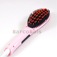 Wholesale Electric Hair Straightener Comb with Automatic LCD Temperature Control Massager