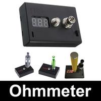 Wholesale Digital OhmMeter VoltMeter High Quality ohm Reader Resistance Tester Ohm meter Volt meter Device for electronic cigarette DIY RDA atomizers