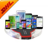 Wholesale FREE DHL New Arrival Original OEM Qi Wireless Charger Charging Pad Charger For iPhone plus Samsung Galaxy S6 S6 Edge