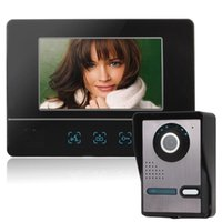 Wholesale Fashion Inch Color Dynamic Picture Video Doorphone Intercom One Camera with One Monitor Free DHL