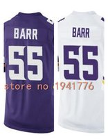 anthony white - Factory Outlet New Anthony Barr youth Elite Football Jersey stitched Kids Barr jersey game size S XL purple white Chirld jerseys