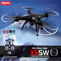 Wholesale HOT Original Drones SYMA X5SW RC Drone FPV Helicopter Quadcopter with HD Camera G Axis Real Time RC Helicopter Toy