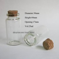 glass bottle with cork - ml Clear Glass Bottle With Cork cc Empty Cork Bottle Wishing Bottle Glass Container with Cork