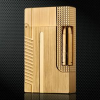 Wholesale 007 Bullet Gold Silver Grey S T Memorial Dupont lighter Bright Sound windproof gas refillable lighter for cigarette with box