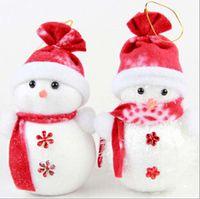 Wholesale 20pcs Christmas doll ornaments Christmas tree snowman pendant snowman ornaments christmas decorative gifts christmas decorations christmas