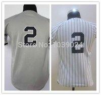 arrival new york - 2016 New Hot New York Derek Jeter Youth Jersey White Stripe Gray Polyester Kids Derek Jeter Baseball Jersey New Arrival