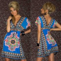 beach uniform - Factory direct Sexy Underwear Supply of foreign trade in Europe and America sexy V neck bohemian beach dress Sexy Set N155