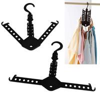 Wholesale Magic Space Saver Foldway Fold Hanger Closet Organizer Clothes Rack Clotheshorse Y1147