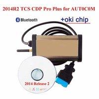 Wholesale 2015 Car diagnostic tool Tcs CDP Pro plus OKI Chip for Program Keygen Bluetooth obd2 scanner for Cars Trucks