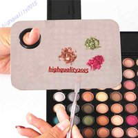 Wholesale Cosmetic Nail Makeup Mixing Palette Spatula Tool High Quality Professional Stainless Steel Hands free Matte Packaging