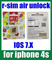 Wholesale R SIM Air Unlock card R SIM Air ATT T mobile Sprint Rogers UK Oranges Top IOS R SIM Air For iPhone S OTH019