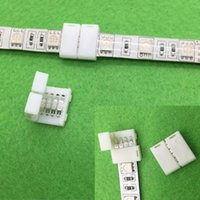Wholesale 50PCS RGB Led Strip Connector Pin Led Connectors No Soldering mm PCB board wire connection for RGB Strip