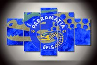 animal eels - 5 Panel No Framed Printed Parramatta Eels emblem Painting children s room decor print poster picture canvas naruto shippuden sasuke pictures