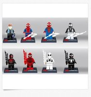 Wholesale Minifigures Set SPIDERMAN Series Tendrils Black Spines Venom Building Blocks Minifigures children Toys