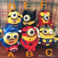 Wholesale Hot Sale Colorful Despicable Me Cartoon Plush Dollls Minion Toys for Children Yellow Movie Doll Plush Kids Birthday Gift Minion MYF0722