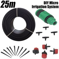 Wholesale 25m Drip Nozzles DIY For Garden Watering Sprinklers Plants Irrigator Dripper Hose Kits Greenhouse Drip Irrigation System
