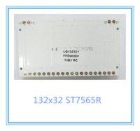 al por mayor gráficos de serie-2pcs / lot módulo gráfico COG display132x32 lcd 55X31mm ST7565R serie SPI 3.3V FSTN GRIS LEDblacklight blanco gratuito