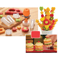 Wholesale New Arrivals Creative Kitchen Gadgets Accessories Tools Plastic Fruits Vegetable Shape Cutter Slicer Food Decor C315