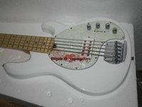 Guitarra baja blanca de la pastinaca 5 Hombre de la música al por mayor del bajo eléctrico Arce Diapasón