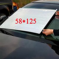 auto rewind - Auto Retractable Silver UV Protection Front Windshield side rear Car SunShade Car PullRoll Rear Rewinding Visor Cover Sunshield