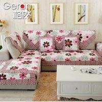 Cheap Grid natural idyll cotton towel cotton slipcover sofa fabric sofa cushion sofa cushion new summer