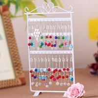 Wholesale 1pcs Hole Earrings Ear Studs Jewelry Display Rack Metal Stand Holder Showcase Hot Selling