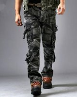 bags trousers - New A military uniform pants Fashion European Men s loose Big size D Camouflage bag trousers more outdoor casual pants