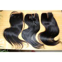 Wholesale 100 Unprocessed brazilian Peruvian Lace Closure Hair Weave Closure Pieces quot quot x4 Silky Straight Weave Human Hair Top Closures