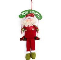 beard boards - Wooden Frame Hanging Santa Claus Doll Merry Christmas Paper Board Decorations White Beard Ornaments Gift Enclosed Red String