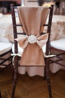 brown wedding chair covers - 2015 Latest Wedding Chair Sashes Pieces Custom Made Chocolate Brown Wedding Party Decorations Chair Covers m Length