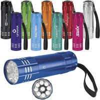 Wholesale Promotional LED Light Flashlights with Custom Laser Engraved Logos colours available
