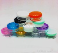Wholesale 1000 colored g cosmetic cream jar plastic container refillable bottle jars display bottle sample jar cosmetic packaging
