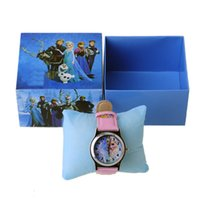 Wholesale Hot sale Frozen Elsa Anna cartoon watch all kinds of cartoon watch with real box for children s lovely birthday gift
