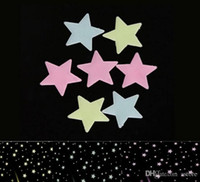Wholesale Hot Sales Fluorescent light Decor Stickers GLOW in the DARK SPACE in a Set Wall Ceiling STARS Kid s Room CX221