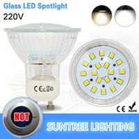 Wholesale Suntree brand GU10 V Led Spotlight SMD Leds Glass Lamp Body GU W Spot Light Led Bulb Downlight Lighting