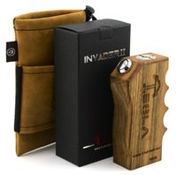 3.2V-4.2V authentic wood - Authentic KingZone Tesla Invader II Box Mod Using Batteries Wood Mod for TESLA DII Atomizer Arectic Aspire Atlantis Clearomizer