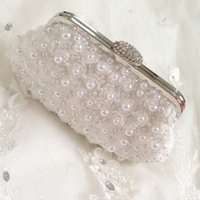 best cheap handbags - Best Selling Pearl Bead Rose Flower Handmade Wedding Bags Handbag For Wedding White Champagne Or Black Chain Shoulder Bag Exquisite Cheap