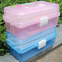 Wholesale Retail big size multifunction tool box Tool Case Storage Box Organizer great for painting fishing tool medicine beauty