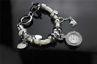 bead charm bracelet watch - Cheap Watches Europe Fashion Style Glass Beads Heart Charm Bracelets Fit Pandora Charms Bracelet For Ladies