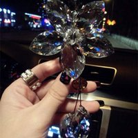 beautiful levels - Luxury car crystal pendant natural crystal five leaves significant level design is simple and beautiful shining perfect car inte