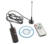 Wholesale RTL2832U R820T DVB T SDR DAB FM USB DIGITAL TV Tuner Receiver Stick Dongle Remote Control and Antenna
